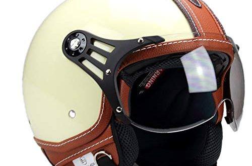 BNO PL28 Jethelm Beige glaenzend Braun Motorradhelm Schutzhelm Helm S 500x330 - BNO-PL28 Jethelm Beige glänzend + Braun, Motorradhelm, Schutzhelm Helm S - XL (L)