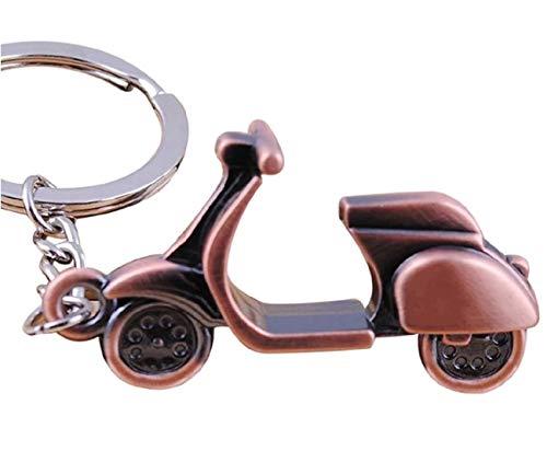 Sportigo ® Motorroller Schlüsselanhänger/Roller in der Farbe Bronze/Retro Look/Geschenk