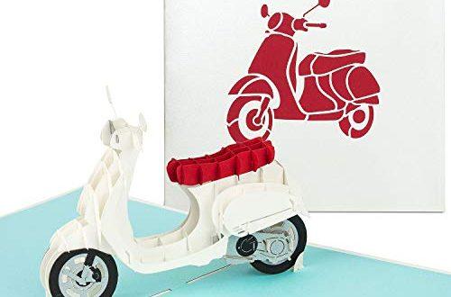 PaperCrush® Pop Up Karte Roller 3D Geburtstagskarte mit Motorroller Handgemachte 500x330 - PaperCrush® Pop-Up Karte Roller - 3D Geburtstagskarte mit Motorroller, Handgemachte Grußkarte inkl. Umschlag