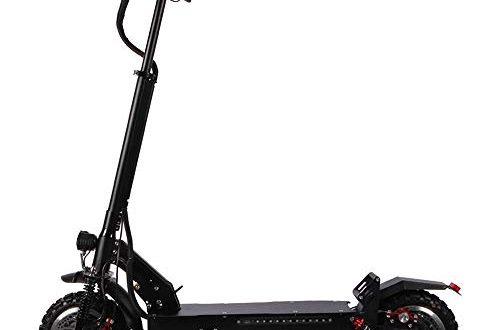 HSAW Elektroscooter 70 Kilometer weitraeumige Tragbarer Klapp Design Commuting Motorroller for 500x330 - HSAW Elektroscooter 70 Kilometer weiträumige Tragbarer Klapp-Design Commuting Motorroller for Frauen und Männer Für Erwachsene und Jugendliche (Color : Black, Size : 60V/26A)
