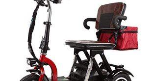 WRJY Elektromobilitaetsroller dreiraedriger Roller mit zusammenklappbarem leichtem tragbarem Motorroller 310x165 - WRJY Elektromobilitätsroller, dreirädriger Roller mit zusammenklappbarem, leichtem, tragbarem Motorroller - Unterstützung für große Entfernungen (50 km) - Elektroroller für Erwachsene
