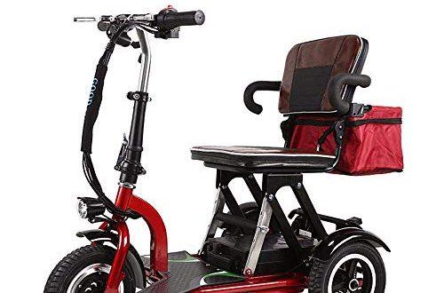 WRJY Elektromobilitaetsroller dreiraedriger Roller mit zusammenklappbarem leichtem tragbarem Motorroller 500x330 - WRJY Elektromobilitätsroller, dreirädriger Roller mit zusammenklappbarem, leichtem, tragbarem Motorroller - Unterstützung für große Entfernungen (50 km) - Elektroroller für Erwachsene